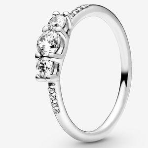 Pandora Silver three stone ring